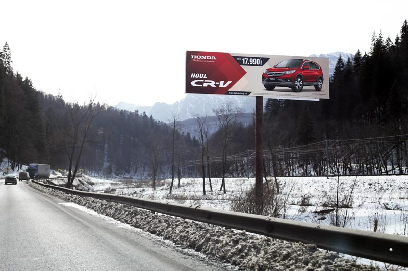 14x4m billboards roadside advertising in Romania