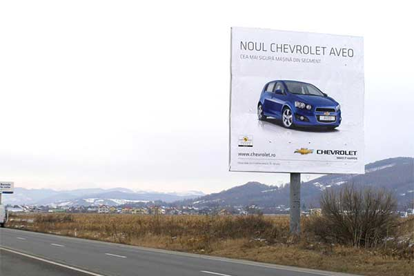 Bucharest to Prahova Valley advertising locations