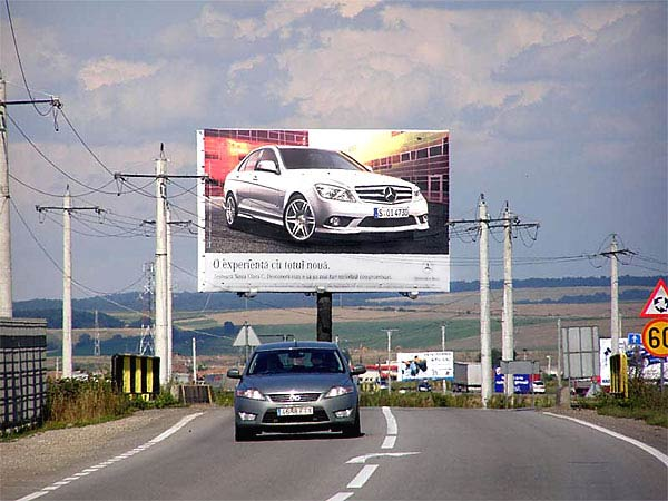 14x9m Spectacular advertising signs in Romania